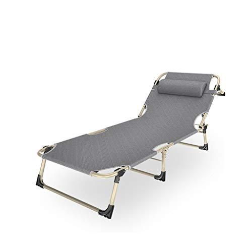 LLRDIAN Büro multifunktions mittag Rest Schwangere Frauen Siesta Stuhl Liege Falten mittagspause faltblätter Menschen einfach zu tragen (Farbe : Gray) -