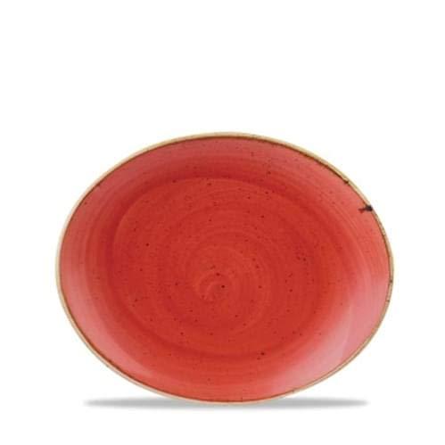 Churchill Classcast Ovale Coupé Assiettes Berry Rouge 192 mm
