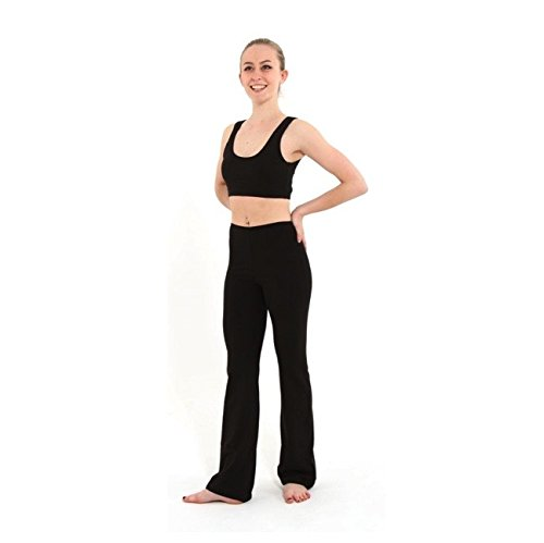 Schwarze Jazz-dance-hose (Arabesque – JAZZ Pants Regular Länge Baumwolle Lycra Gr. Small, Cotton Lycra Black)
