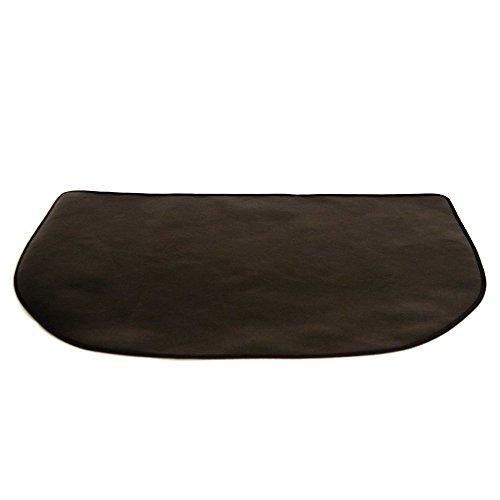 Texfire Feuerfeste halbrunde Bodenschutzmatte für Öfen und Kaminöfen (120 x 50 cm
