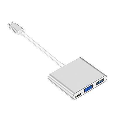 Multiport Charging Converter HUB Adapter USB 3.1 Type C to VGA USB 3.0 USB-C by SFIC LTD