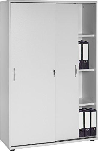 VCM Aktenschrank Büroschrank Schrank Regal Büroregal Universalschrank Aktano 480 Lichtgrau
