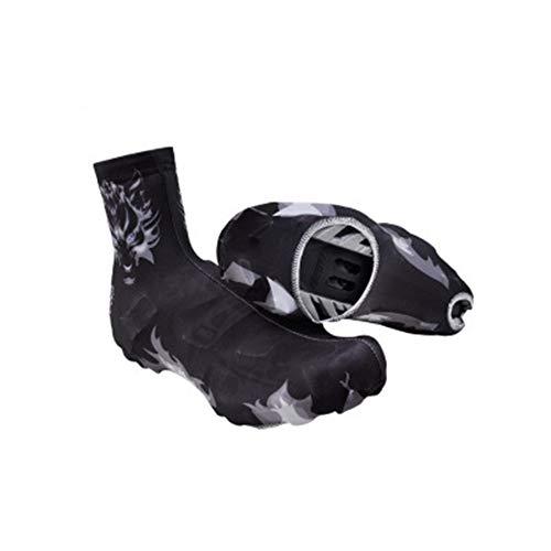 Zapatos de lluvia Cubre zapatos Peso ligero Fácil Seco A prueba de polvo Carretera Ciclismo Cerradura Cubre Zapatillas Cubre zapatillas Hombre Dragón Caballero Fantasma Lobo patrón para Viajes Camping