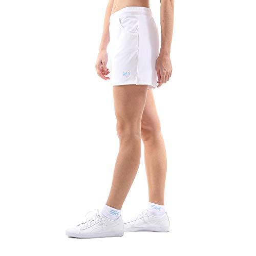 Sportkind Mädchen & Damen Tennis, Fitness, Bermuda Shorts, Weiss, Gr. L