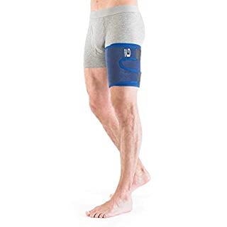 Neo-G Thigh Support - Hamstring Wrap For Sprains, Strains, Quadriceps, Pulled Muscles, Sports Injury, Recovery and Rehab - Adjustable Compression - Class 1 Medical Device - One Size - Blue
