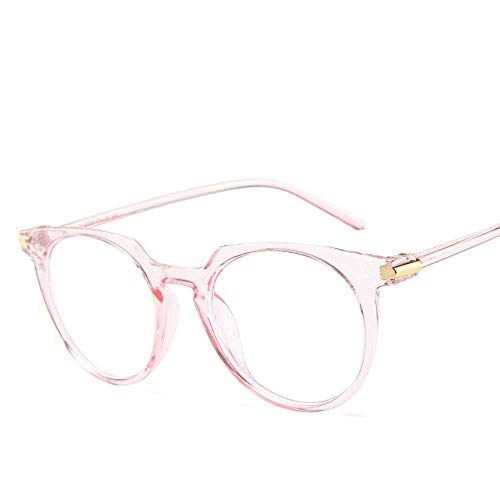 YSA Sonnenbrille-Netter ovaler Glas-Rahmen mit metallischem weiblichem transparentem transparentem Linsen-Glas-blauem rosa Ton