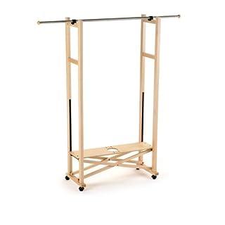 ARREDAMENTI ITALIA Garderobe ELIOS, Holz - Klappbar - Ausziehbar - Farbe: Naturlich Ar-It il cuore del legno