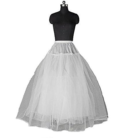 Phoenix® enagua de la boda accesorios de la boda Enaguas Falda paseo nupcial de 3 capas vestido de novia sin deslizamiento prom enagua de crinolina aro de deslizamiento