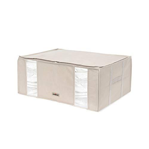 "Compactor Caja de Almacenaje Al Vacío, Talla XXL, 210 l, Beige Life 2.0\"", RAN7650, Compression Bag : 0.065Mm Llpde + Nylon | Cover: Non Woven 120G, Blanco/Azul Marino"