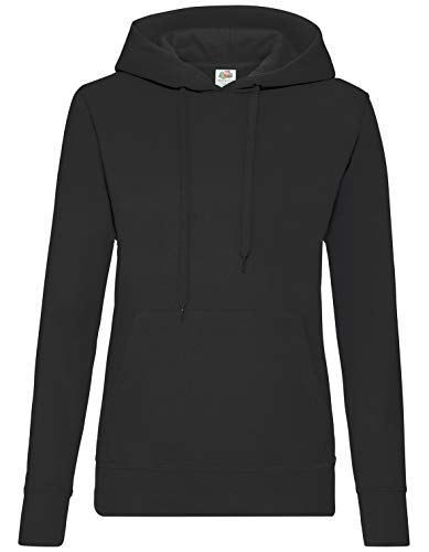 Fruit of the Loom - Lady-Fit Hooded Sweat XS,Black