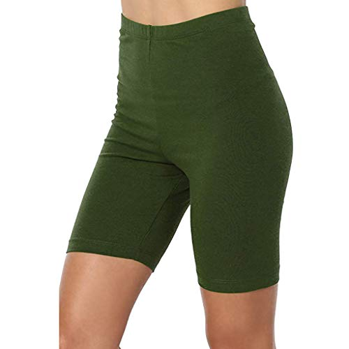 Damen Sexy Kurze Pants Yogogo Sommer Hohe Taille Pants Yoga Leggings Workout Yogahose Sport Hosen Sexy Einfarbig Druck Kurze Bleistift 3/4 Tummy Control Laufhose Fitness Leggins Slim Fit Sporthose -
