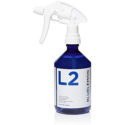 L2 Neutralizador de olores profesional en botella de 500 ml | BLUELEMON L2 | Concentrado para diluir | Ecológico | Para orina de animales y demás fuentes de olor en el hogar y el coche | Con cabezal de pulverización