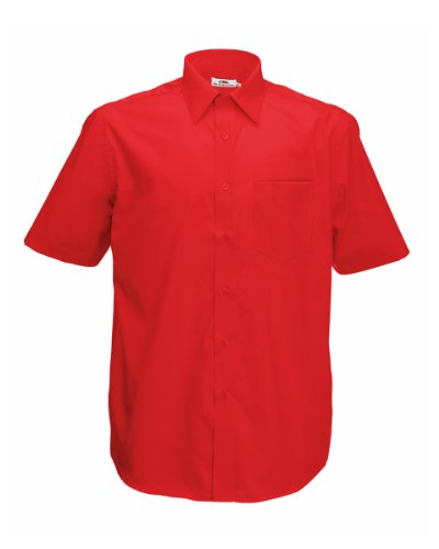 Fruit of the Loom S/Sleeve Popeline Shirt Rot