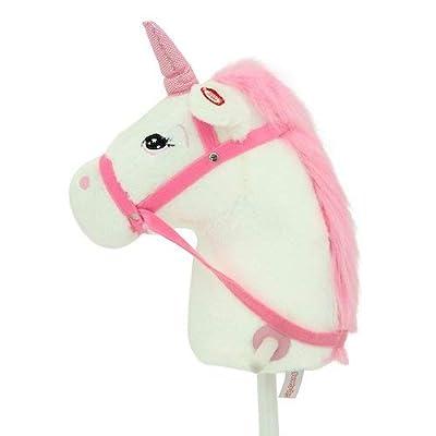 Sweety Toys 10554 hobby horse unicorn white 100cm