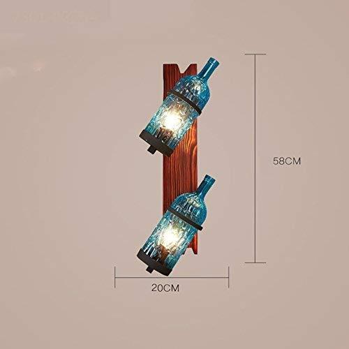 WHKHY Applique Murale pour Lampes de Bar, Bouteille, Restaurant Loft CAF & Eacute; Retro Industrial Winds Leisure Loisirs Lampe Murale Club House Couleur Deux Têtes E 27 20 & Périodes; 58 cm de nouve