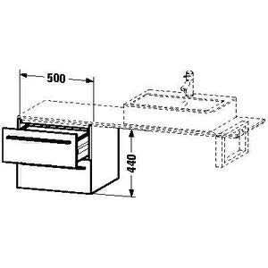 Hickory 2 Schublade (Duravit x-large Waschtisch Unterbau 500x 478Amerikanisches Hickory 2Schubladen)