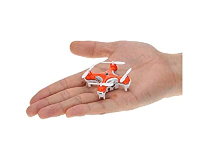 T2O® Super Mini Micro Nano Quadcopter RC Mini Drone with CAMERA & LED LIGHTS 2.4G 4 Channel 3D Gyro 6 Axis with 3D Stunt Spin Flips (Only 4cm x 4cm x 2cm) in Orange with Camera from T2O®