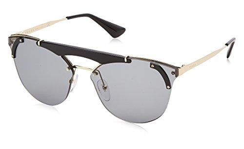 Prada Damen 0PR53US 1AB3C2 42 Sonnenbrille, Schwarz (Pale Gold/Black/Grey)