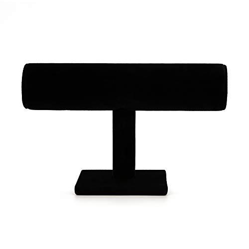 BonTime Schwarzes Samt Kurze T-Bar Armband Uhr Schmuck Display Tower Rack Stand