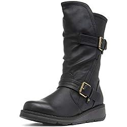 Heavenly Feet Hannah Botas de Pantorrilla para Mujer, Color Negro, Color Negro, Talla 42 EU
