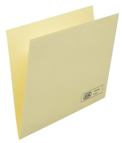ELBA 100091738 Einstellmappe 50er Pack aus 180 g/m² Kraftkarton mit überstehendem Beschriftungsrand chamois