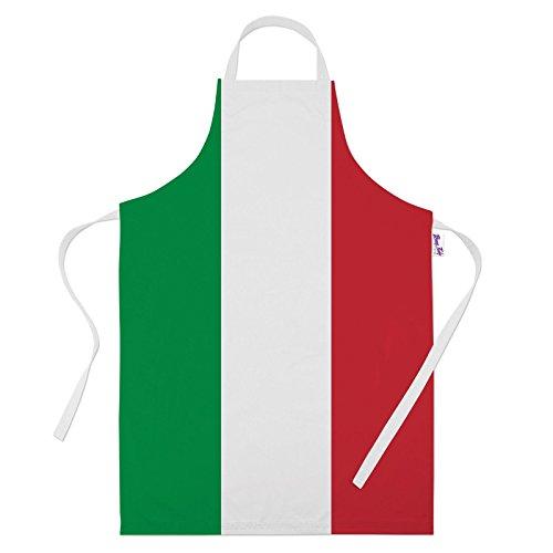 Italien Kostüm Un - Bedruckte Schürzen für Männer Funny Italienische Flagge Backen Geschenke Küche Schürze Kochen Köche Geschenk, 100% Polyester, weiß, Einheitsgröße