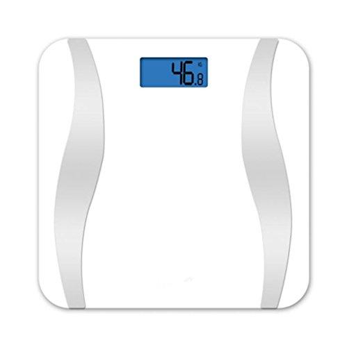 L&R Scale Bluetooth Körper-Fett-Skala, Intelligentes Drahtloses Digitales Badezimmer-Gewichts-Skala-Gesundheits-Monitor Für Körper-Gewicht, Fett, Wasser, BMI, BMR, Muskel-Masse, 396Lb,White