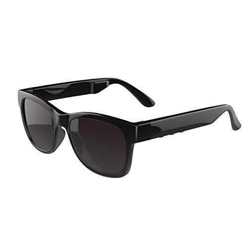 Bluetooth Brille Knochenleitung Headset Blu-Ray Polarisierte Sonnenbrille Myopie Drahtlose Musik KopfhöRer, Kompatibel Mit Allen Smartphones