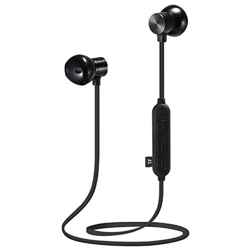 FANGSHUAI Auricular Bluetooth Wireless Bluetooth Headset Deportes Correr Metal de la Tarjeta magnética de la música MP3 Auriculares