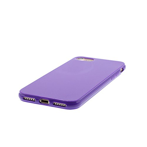 iPhone 6 / 6s Custodia, copertura per iPhone 6s [TPU Silicone Transparent] Sofi Durable Custodia Ultra sottile antigraffio Case Cover per iPhone 6 / 6s (4.7inch) - rosso Viola scuro