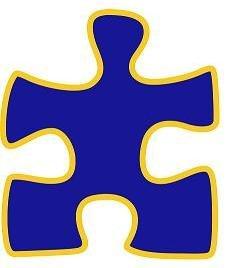 Pin para solapa, diseño de pieza de puzzle de campaña para la concienciación sobre el autismo, color azul