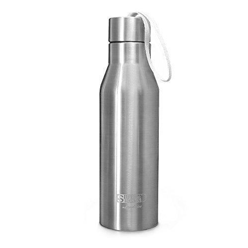 Landnics Botella de Agua 720ml acero Inoxidable Uso Diario y Deportivo 24 Horas Frío y 12 Horas Caliente Para acampar y senderismo sin BPA