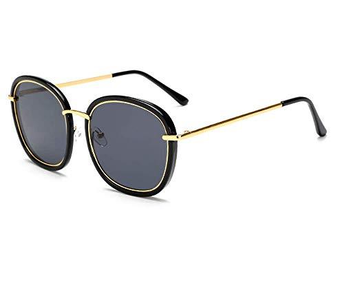 LZHTC Polarisierte Sonnenbrille Frauen Flut Rundes Gesicht Großen Rahmen Sonnenbrille Trend Brille Herren Quadratische Sonnenbrille