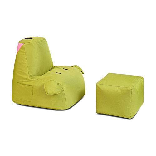 (Hocker und Ottomane klein Faule Couch, Einzelnes Kreatives Schwein Mit Fußschemel-Sofa-Stuhl Mit Taschen-Kinderstuhl-Bett-Bean-Beutel-Verstellbarem, Geeignet für Wohnzimmer Schlafzimmer-Stuhl, Der Fer)