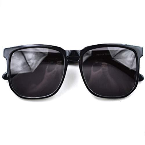 NSMZ Retro Herren Damen Teller Classic Sonnenbrillen Fashion Sonnenbrillen Dekorative Gläser,Black Black Classic Teller