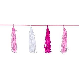 Quasten-Girlande in * BABY-PINK * zur Geburt von einem Mädchen // Deko Dekoration Geburtstag Rosa