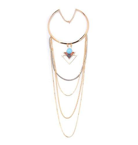 Dame einfach Legierung Mehrschichtig Choker Halskette Mode Kostüm Schmuck