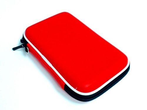 Funda trans. DSi XL y 3DS XL (roja)