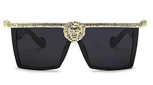 Luxuriöse Gold Cat Eye Übergroße Sonnenbrille Männer Frauen Metall Quadrat Brille Designer Brillen UV Schutz 45200
