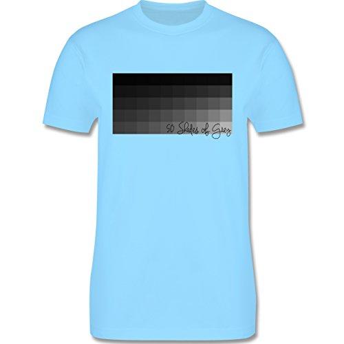 Statement Shirts - 50 Shades of Grey 50 Grauabstufungen - Herren Premium T-Shirt Hellblau