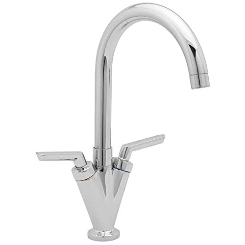 ATORRE® Modern Dual Lever Chrome Kitchen Sink Bathroom Basin Mixer Tap by ATORRE -