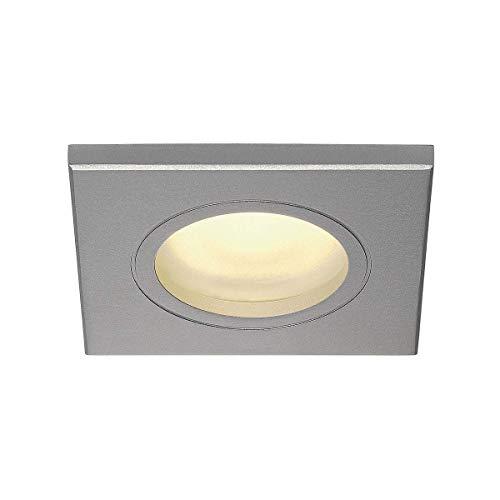 SLV LED Deckenstrahler DOLIX OUT zur Decken-Beleuchtung innen  LED Spot, Einbau-Leuchte, Einbaustrahler Flur, Wohnzimmer, Küche, LED Deckenleuchte Badezimmer-geeignet   GU10, max. 50W, EEK C-A+, IP65 (Leuchten Küche Decke)