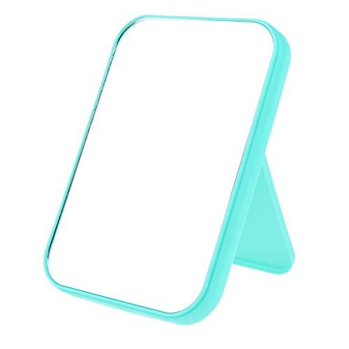 B Baosity Klappspiegel Standspiegel Kosmetikspiegel Schminkspiegel Rasierspiegel Kompaktspiegel für Badezimmer und Wohnzimmer - Grün