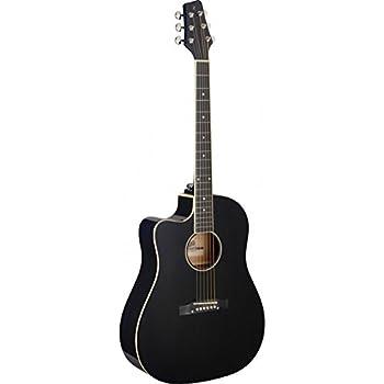 stagg cutaway acoustic electric slope shoulder dreadnought guitar lefthanded sunburst. Black Bedroom Furniture Sets. Home Design Ideas