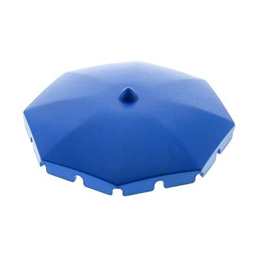 Bausteine gebraucht 1 x Lego System Fabuland Schirm blau Umbrella Sonnenschirm eckige Franzen 3667...