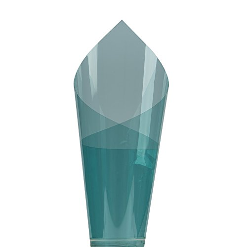 HOHO 19.6in von 9,8Ft vlt65% Mitte blau Auto Windschutzscheibe Fenster Film Kleber getöntes Natürliche Farbe Tint Seite Solar Fenster Folie - Fenster-folie Getönte