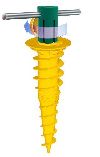 JUWEL Duo Bodenschraubanker zum Eindrehen für Rohr Durchmesser 32, 40, 50, 55 mm, 1 Stück, 30026