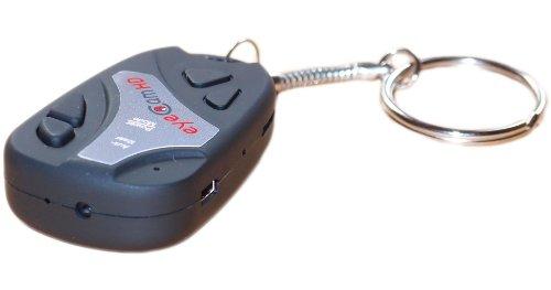 eyeCam HD 720p, Spy Cam 808 - Minicámara DVR y DV (con forma de llave de coche, sonido, fotografías y vídeos, tarjeta de memoria de 4 GB)