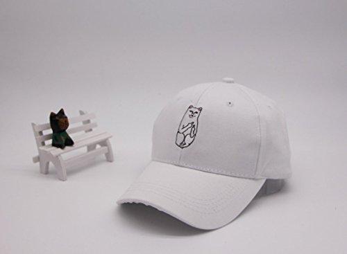 Aza Boutique, T-Shirt mit Tasche in College-Studentin-Stil mit Mittelfinger zeigende Katze, Kappe, iPhone-Hülle Gr. Einheitsgröße, 4_Cap_white