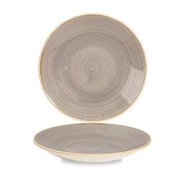 Churchill Stonecast handgefertige Deep Coupe Plate Ø 25,5cm, Farbe wählbar (Peppercorn Grey) Deep Coupe